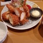 とんかつ とん樹 - 料理写真:2018/8/2 シーフードミックスフライ