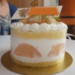 9026378 - ピーチのホールケーキ