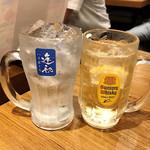 銀だこ 大衆酒場 - 逢初ハイボール ¥450 / 角ハイボール ¥350