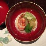 大三 - 夏野菜と車エビの冷やし椀
