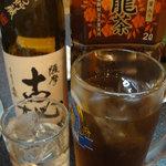 焼肉明洞舘 - 焼酎と烏龍茶