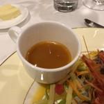 北島亭 - ブイヤベースのスープ。
