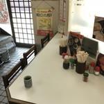 みなと食堂 - このカウンター席に座りました(2018.8.3)