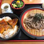 小島 - うな丼セット(ザル蕎麦に変更)