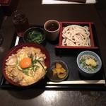 福の膳 - 国産若鶏と九条ねぎの親子丼とうどんのセット890円