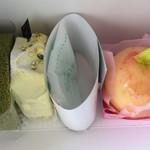 クルル - ピスタチオ 抹茶 丸ごと桃