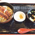 うな栄 - 料理写真:並 うな丼 鰻3切れ