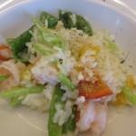 イタリア食堂 フクモト - 海老といろいろ野菜チーズリゾット