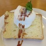 イタリア食堂 フクモト - キャラメル風味シフォンケーキ