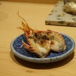 寿司割烹 魚紋 - 車海老の頭