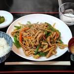 好味苑 - 好味苑 @本蓮沼 日替わりランチ Aセット 豚肉とピーマンの細切炒め