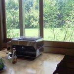9029300 - 店内の座席から見える田園風景、長閑な風景がとっても落ち着きます。鮎はテーブル上のグリルで自分で焼きます。