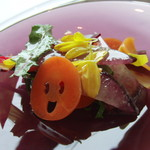プレゼンテ スギ - 休日ランチ 自家栽培野菜などのサラダ