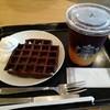 スターバックス コーヒー - 料理写真:コールドブリュー アップルシトラスとアメリカンワッフルにホイップクリームを添えました。(2018年6月)