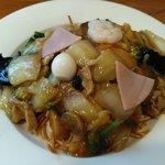 中国料理 珍満 - 五目あんかけ揚げ焼きそばです♪