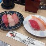 回転寿司 力丸 神戸垂水店 - お得感な三種盛りたち