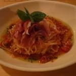 9030361 - 夏野菜とイタリア生ハムの冷製トマトスパゲティ