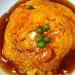 北京餃子 - 日替わりランチのカニ玉丼