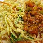 ディヤダハラ - ミックスヌードルにキーマカレーを混ぜていただくと美味しい!