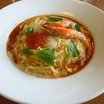 ココス - 料理写真:いくらと有頭エビとホタテの冷やし麺