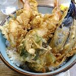 豊野丼 - 天丼(海老2本・野菜3品) 800円
