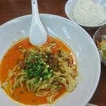 杏亭 - 汁なし担々麺のランチセット