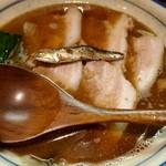 烈志笑魚油 麺香房 三く - 煮干したっぷりのラーメン