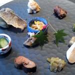 有栖川 - 料理写真:見事な焼八寸