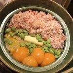 旬菜 おぐら家 - かにととうもろこしの炊きこみご飯