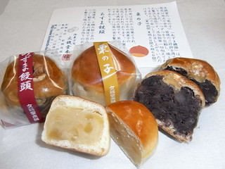 文銭堂本舗 新橋店 - 栗の子、あずま饅頭