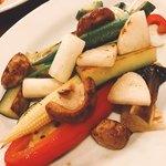 フレンチバル KATO - 野菜のオリーブ焼き(^^)