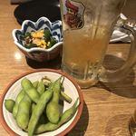 肉の炭火焼と土鍋ごはん だんらん居酒家HANA - ハイボール&お通し(^^)