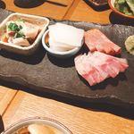 肉の炭火焼と土鍋ごはん だんらん居酒家HANA - 刺し身盛り合わせ(^^)