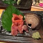 地魚屋台 とっつぁん - 活赤貝刺身