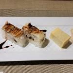 90318184 - 名物の穴子の押し寿司。