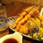 9032164 - 赤海老と夏野菜天盛り