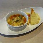 あかぎカフェ - 豚肉と豆のトマトソース煮込みとポテトパンケーキ