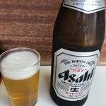 とんかつ美よし - 瓶ビール 450円