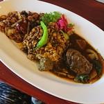 中華料理 八戒 - osamu式カリィ三種あいがけ「炒飯」ver