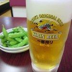 台湾料理 茂源 - まずは麦酒じゃぁー