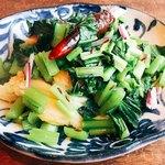 90330514 - 青菜と沖縄麩のクミン炒め
