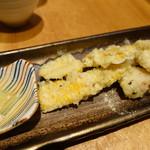 ほいっぽ - ホソととうもろこしの天ぷら