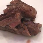 天神焼肉 tHe Good MoR~Ning - スダレステーキ、切り分けられました。
