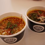 高陣 カップストアー - 料理写真:とうきびとチーズカップスープカレーと、茄子の丸ごとカップススープカレー