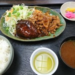 和風キッチン 蔵 - ハンバーグ&焼肉豚生姜焼き ¥750