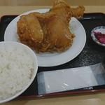 とりかん - 料理写真:から揚げ定食(半身)