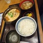 寿屋 寿庵 - カツ煮定食
