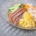 翡翠 - 什錦涼麪(もろこしのひやむぎ)、叉焼(やきぶた)