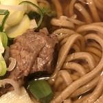 裾花郷 - 【特上】信州鹿肉そば@720円 鹿肉と麺