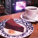 9035159 - ケーキセット(ガトー・オ・ショコラ&コーヒー)